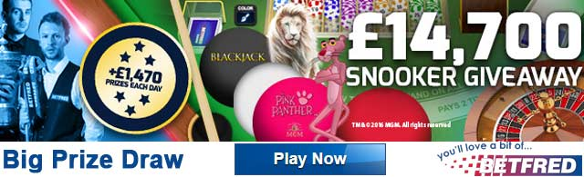 snooker casino promotion